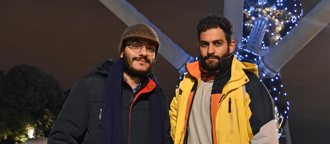 Reasons to study Photonics in Belgium - Photonics Students Pooria and Mehdi